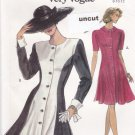 Vogue 8157 Pattern 8 10 12 Very Easy Fitted and Flared Dress Uncut