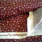 Saltbox Village Connecting Threads Cotton Quilting Fabric 3/4 y Tiny Hearts Maroon