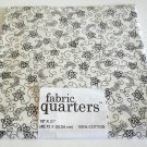 Joann Cotton Quilting Fabric FQ 1/4 yard White with Black Calico