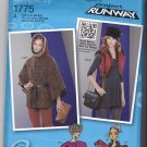 Simplicity 1775 Pattern Uncut XS S M L XL XXL Cape Vest Hood Bag Accessories Project Runway