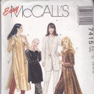 McCall's 7415 uncut 10 12 14 Long Tunic Pants Dressy