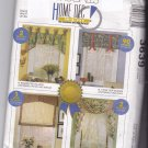 McCall 3639 Home Dec in a Sec Valance Swag Jabot Sewing Pattern uncut
