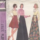 McCall's Pattern 3797 size 10 Bust 32.5 Dressy Blouses Long or Short Skirt Uncut