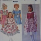 Simplicity 8147 Pattern Dress Lined Vest Girls Uncut 2 3 4