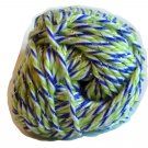 Acrylic Sparkle Yarn Purple Lime Green White Silver 1.75 oz 50g 90 yd 82 m Worsted Weight 4