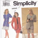 Simplicity 7607 uncut 12 14 16 Jacket Skirt Pleated Flounce