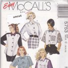 McCall 5753 Pattern 10 12 14 Loose Fitting Blouse Shirt Top Uncut