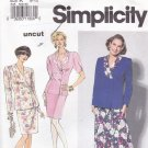 Simplicity 7564 uncut 8 10 12 Two Piece Dress Jacket Skirt