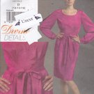 Vogue V 8444 Pattern Uncut Dress Divine Details Pleats size 12 14 16 Full Long Sleeves