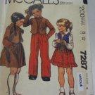 McCall 7287 Pattern Western Vest Skirt Pants Transfer Uncut size 5