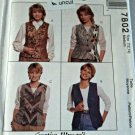 McCall 7802 Pattern Lined Vests Medium 12 14 Nancy Zieman Uncut
