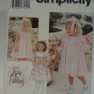 Simplicity 0670 Pattern Dress Coat Scalloped Collar Uncut 1/2 1 2 Infants Toddlers