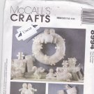 McCall 8994 Pattern Uncut Snow Babies Holiday Decorations Wreath Stocking Tree Topper Ornaments