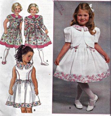 Simplicity 7028 Pattern Uncut 2 3 4 Dress Jacket Girls Toddlers