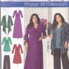 Simplicity 1733 uncut 10 12 14 16 18 Khaliah Ali Twist Front Dress Tunic Drape Cardigan Jacket Pants