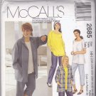 McCall's 2685 Pattern 22w 24w 26w 28w Plus Uncut Shirt T-Shirt Top Pants Capris