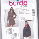 Burda 7347 Uncut 8 10 12 14 16 18 20 Lined Short Trench Coat Storm Flap