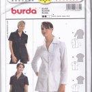 Burda 8360 Uncut 10 12 14 16 18 20 22 Blouse Zip or Button Front Poet Collar