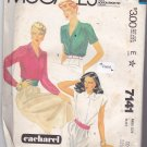 McCall 7141 Pattern Uncut size 10 Cacharel Button Front Blouse Sleeve & Collar Variations