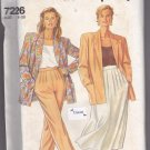 Simplicity 7226 Uncut 8 10 12 14 16 18 20 Boxy Jacket Full Midi Skirt Front Pleat Pants Modest