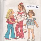 Simplicity 6301 Uncut size 5 Girls Square Neck Top Bell Bottom Pants Shorts