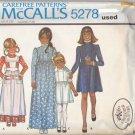 Vintage McCall Pattern 5278 Girls' Dress Apron Laura Ashley size 3