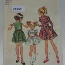 Vintage Simplicity 9952 Pattern Dress Leg O' Mutton Sleeves Girl Uncut 6