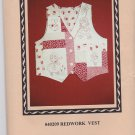 Sentimental Stitches 40209 Redwork Vest Pattern 6 8 10 12 14 16 Uncut Patchwork Embroidery