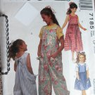 McCall 7185 Easy Girls Jumpsuit, Sundress Sewing Pattern size CF (4 5 6) uncut