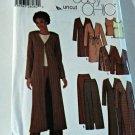 Simplicity 5842 Pattern Unlined Duster Jacket Top Pants 8 10 12 14 Uncut