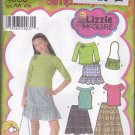 Simplicity 4650 Pattern Girls Ruffle Skirt Tops Purse 8 10 12 14 16 Uncut