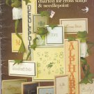 Leisure Arts Alphabet Album Cross Stitch and Needlepoint Alphabet Chart Booklet