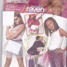 Simplicity 4151 That's So Raven Skirt Hat Bag Girls' pattern uncut all sizes