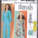 Simplicity 1883 uncut 16 18 20 22 24 Pleat Front Jacket Dress Wide Leg Pants