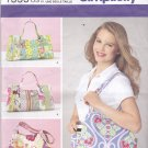 Simplicity 1599 Pattern Uncut Large Patchwork Handbag Diaper Bag Purse Sweet Pea Totes