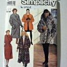 Simplicity 9860 Pattern Easy Lined Winter Coat 6 8 10 12 14 16 18 20 22 24 Uncut