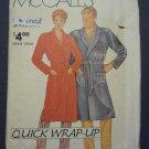 Vintage McCall Pattern 0011 Men Women Bathrobe Robe Quick Wrap Up S M L XL Uncut