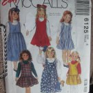 Easy McCall 6125 Girl's Dress Sewing Pattern size 4 uncut