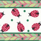 Ladybug Red Green Wallpaper Border 7 inches x 5 yards Tercor