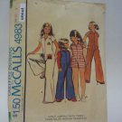 Vintage McCall 4983 Uncut Girls 7 Mechanic Jumpsuit with Iron-On Transfers