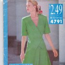 See & Sew 4791 Pattern Blouse Top Flared Skirt Two-Piece Dress B 12 14 16 Uncut