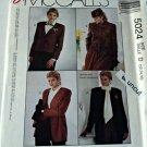 McCall 5024 Pattern Unlined Jacket Short Long Easy 12 14 16 Uncut