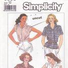 Simplicity 9398 Pattern Button Front Blouse 12 Uncut