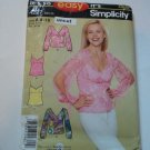 Simplicity 4227 Easy Silky Pullover Tops 8 10 12 14 16 18 uncut