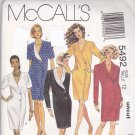 Easy McCall 5492 Pattern Asymmetrical Chemise Dress size 12 Uncut