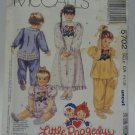 McCall 5702 Pattern Rhumba Pants Pajamas Nightgown Uncut 1/2-1-2 Little Raggedys