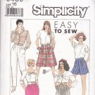 Easy Simplicity 9439 Pattern pants culottes skirt size 16 uncut
