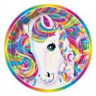 Lisa Frank Rainbow Majesty 9 inch paper lunch plates 8 count Pony new