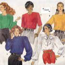 Butterick 5061 Uncut 12 14 16 Classic Career Blouses Shoulder Pads Pullover Short or Long Sleeves