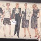Vogue 8617 Uncut 8 10 12 Loose Fit Jacket A Line Skirt Pants Top Shorts Career Separates